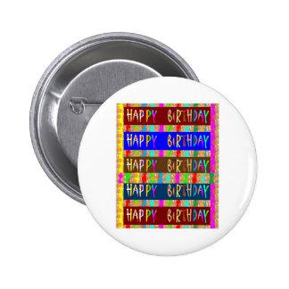 Feliz aniversario HappyBirthday: Roteiro artístico Botons