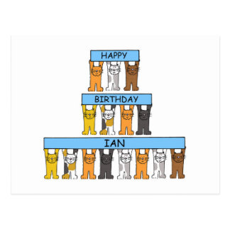 Feliz aniversario Ian Cartão Postal