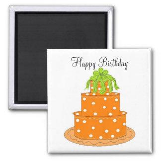 Feliz aniversario ímã quadrado