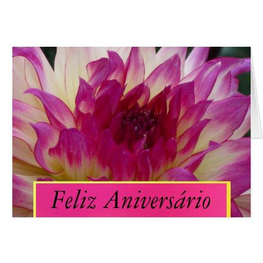 Feliz Aniversário - La Dalia Púrpura Cartão