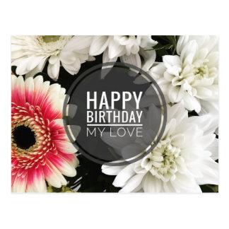 Feliz aniversario meu amor cartão postal