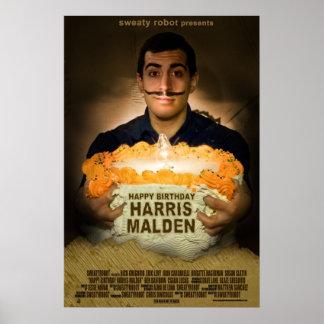 """Feliz aniversario poster de Harris Malden"" Pôster"