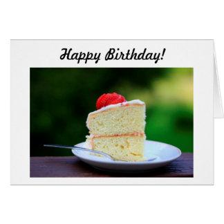 Feliz aniversario saboroso cartão