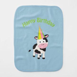 Feliz aniversario! Vaca do partido Fraldinhas De Boca