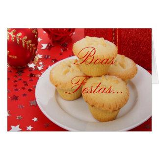 Feliz Ano Novo II de Festas e das boas do Natal um Cartão Comemorativo