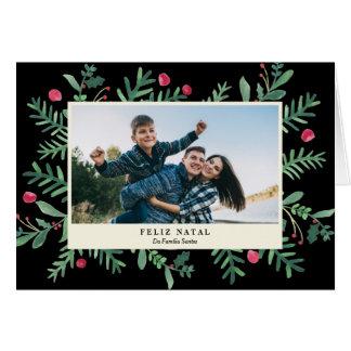 Feliz Aquarela natal | Cartão de Natal
