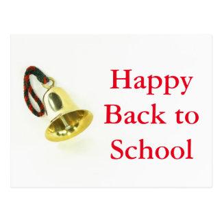 Feliz de volta ao cartão da escola