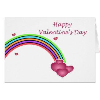 Feliz dia dos namorados com corações do amor do cartão