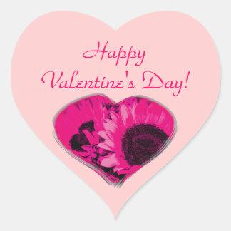 """""""Feliz dia dos namorados!"""" - Coração cor-de-rosa Adesivos Em Forma De Corações"""