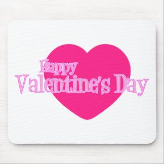 Feliz dia dos namorados (coração cor-de-rosa gigan mouse pads