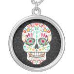 Feliz Muertos - colar feliz do pendente do crânio