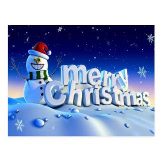 Feliz Natal 3d e feliz ano novo Cartão Postal