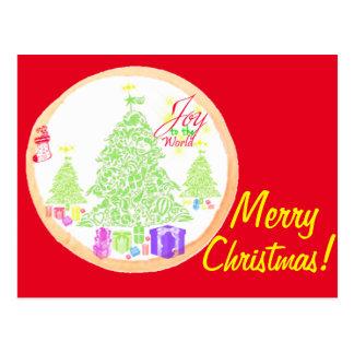 Feliz Natal!  Alegria ao biscoito do mundo Cartão Postal