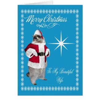Feliz Natal ao cartão da esposa