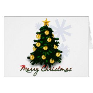 Feliz Natal - árvore do Xmas Cartão Comemorativo
