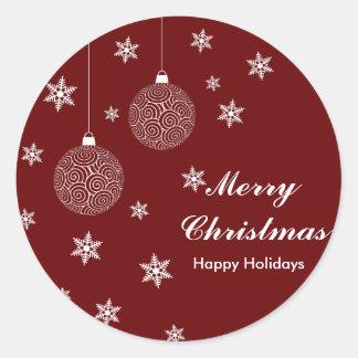 Feliz Natal & boas festas Adesivo