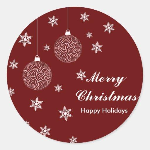 Feliz Natal & boas festas Adesivos Em Formato Redondos