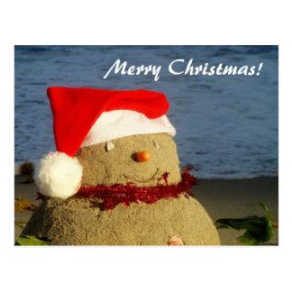 Feliz Natal! boneco de neve do sandman/ Cartão Postal