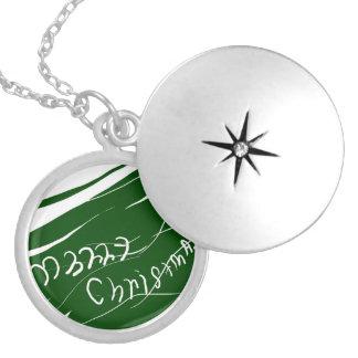Feliz Natal Colar Medalhão