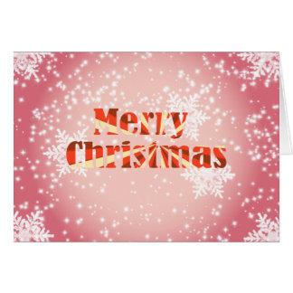 Feliz Natal com cartão dos flocos de neve