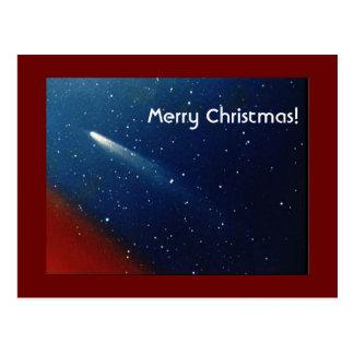 Feliz Natal! Cometa Kohoutek Cartão Postal
