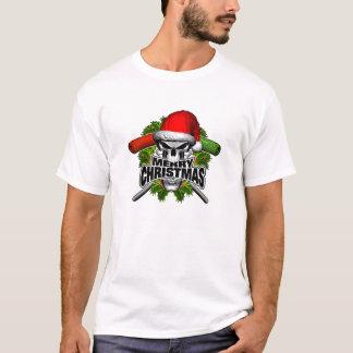 Feliz Natal: Crânio do pintor T-shirt