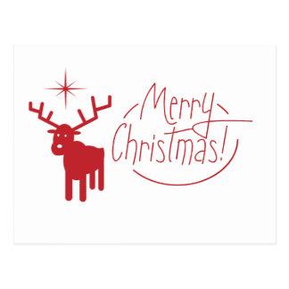 Feliz Natal da rena Cartão Postal
