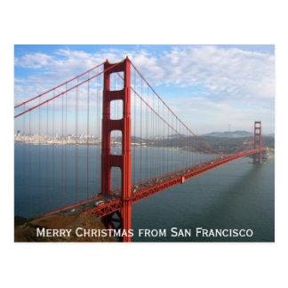 Feliz Natal de San Francisco Cartão Postal