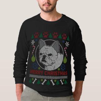 Feliz Natal do buldogue francês feio Moletom