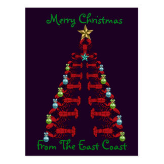 Feliz Natal do cartão da costa leste