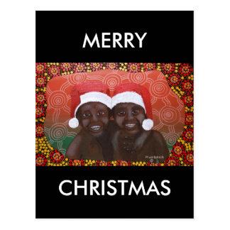 Feliz Natal dos meninos do interior Cartão Postal