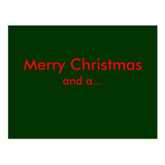Feliz Natal, e… Cartão Postal