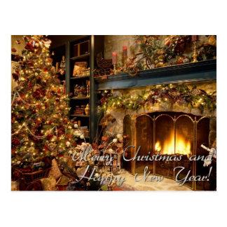 Feliz Natal e feliz ano novo Cartão Postal
