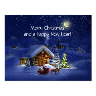 Feliz Natal e feliz ano novo! Cartão Postal