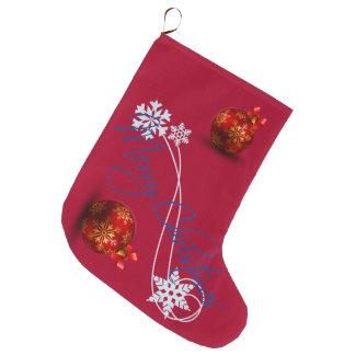 Feliz Natal e feliz ano novo Meia De Natal Grande