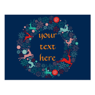 Feliz Natal e newyear feliz Cartão Postal