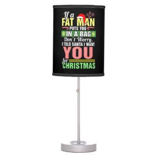 Feliz Natal e Papai Noel Luminária De Mesa