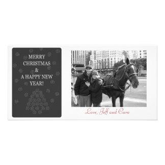 Feliz Natal e um cartão com fotos do feliz ano nov Cartão Com Foto