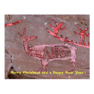 Feliz Natal e um feliz ano novo! Cartão Postal