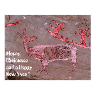 Feliz Natal e um feliz ano novo Cartão Postal