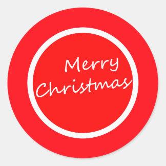 Feliz Natal (etiqueta) Adesivo