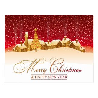 Feliz Natal & feliz ano novo Cartão Postal