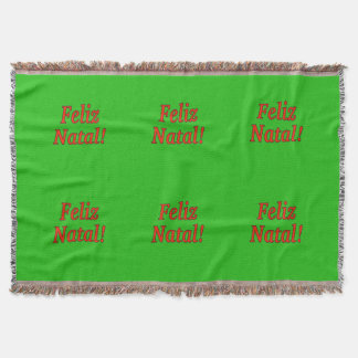 Feliz natal! Feliz Natal no rf português Throw Blanket