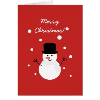 Feliz Natal festivo da neve do feriado do boneco Cartão