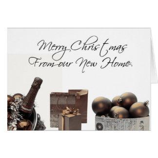 Feliz Natal Home novo do anúncio Cartão Comemorativo