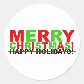 Feliz Natal! (não boas festas) Adesivo Redondo