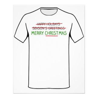 Feliz Natal, não os cumprimentos da estação Flyer 11.43 X 14.22cm