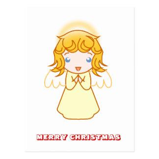 Feliz Natal, por Nekoni, anjo pequeno Cartao Postal