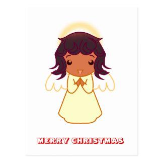 Feliz Natal, por Nekoni, anjo pequeno Cartoes Postais