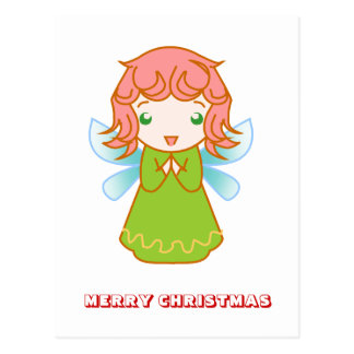 Feliz Natal, por Nekoni, anjo verde Cartão Postal
